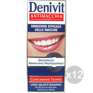 Set 12 DENIVIT Dentifricio Antimacchia 50 Igiene E Cura Dei Denti