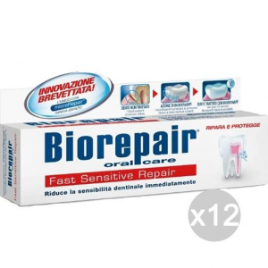 Set 12 BIOREPAIR Dentifricio 75 Fast Sensitive Igiene E Cura Dei Denti