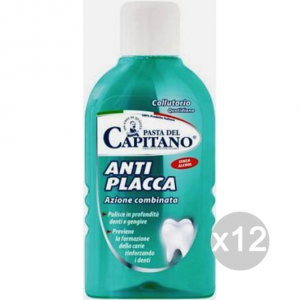 Set 12 CAPITANO Collutorio Antiplacca Antibatterico 400 Ml Igiene E Cura Dei Denti