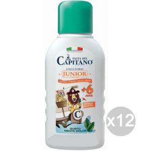 Set 12 CAPITANO Collutorio Junior +6Anni 250Ml Bimbi Igiene E Cura Dei Denti