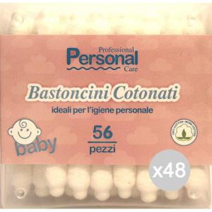Set 48 IPEK Cotton Stic X 56 Baby Igiene E Cura Del Bambino