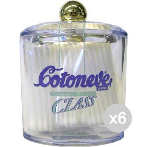 Set 6 COTONEVE Cotton Stic X 125 Class Vetro Cura E Pulizia Del Viso