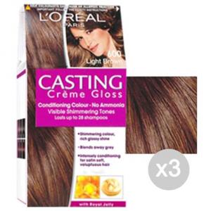 Set 3 CASTING Creme Gloss 600 Biondo Scuro. Tinta E Colore Per Capelli