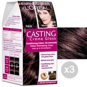 Set 3 CASTING Creme Gloss 500 Castano Chiaro. Tinta E Colore Per Capelli