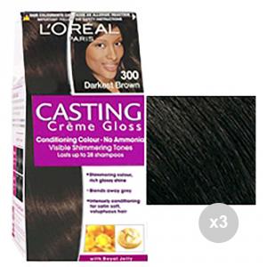 Set 3 CASTING Casting creme gloss 300 castano scuro tinta colorata per capelli