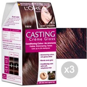 Set 3 CASTING Creme Gloss 415 Marron Glace'. Tinta E Colore Per Capelli