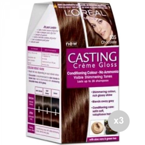 Set 3 CASTING Casting creme gloss 535 chocolat tinta colorata per capelli