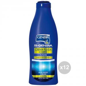Set 12 GENERA Crema corpo fluida 500 olio macadamia igiene e cura della persona