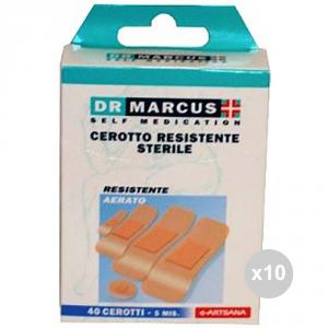 Set 10 DR MARCUS Cerotti resistenti x40 assortiti 24042 farmaceutica e medicazione