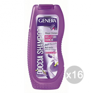 Set 16 GENERA Doccia Shampoo Iris E Fiori Ml 300 Cura E Trattamento Dei Capelli
