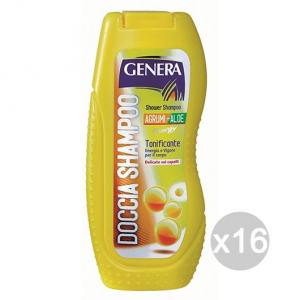 Set 16 GENERA Doccia Shampoo Agrumi E Aloe Ml 300 Cura E Trattamento Dei Capelli
