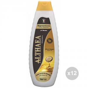 Set 12 ALTHAEA Bagno olio argan 750ml igiene e cura della persona