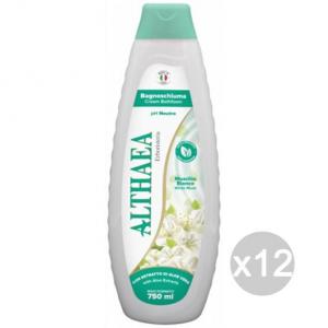 Set 12 ALTHAEA Bagno Muschio Bianco 750Ml Cura E Pulizia Del Corpo