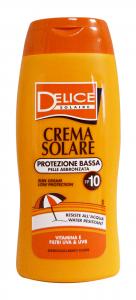 DELICE Fp10 crema solare 250 ml. - Prodotti solari