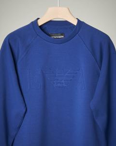 Felpa bluette logo rilievo