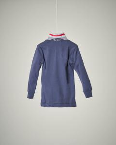 Polo blu colletto oxford 2-6 anni