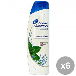 Set 6 HEAD & SHOULDERS Shampoo MenTOL Fresh AntiForfora 250 Ml. Prodotti per capelli