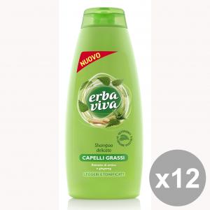 Set 12 ERBA VIVA Shampoo Capelli Grassi 500 Ml. Prodotti per capelli