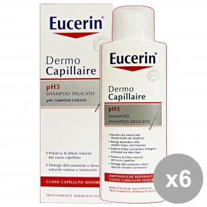 Set 6 PARAF.EUCERIN Shampoo Delicato P.SENS.250 Ml.  Prodotti per capelli