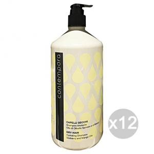 Set 12 CONTEMPORA Shampoo Idratante Capelli Secchi 1 Lt. Prodotti per capelli