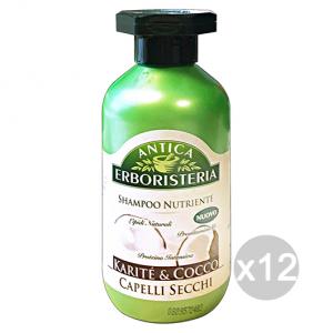 Set 12 ANTICA ERBORISTERIA Shampoo Karite'/Cocco Secchi 250 Ml Prodotto Per Capelli