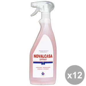 Set 12 GERMO Sgrassatore NOVALCASA Disinfettante TRIGGER 750 Ml.  Detergenti casa