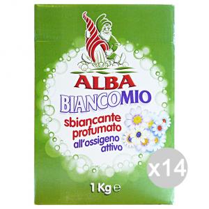 Set 14 ALBA Biancomio Ossigeno Attivo 1 Kg Prodotto Lavatrice