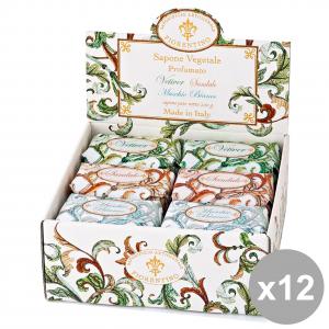 Set 12 FIORENTINO Saponetta SANDALO-VETIVER-Muschio Bianco 200 Gr. Saponi e cosmetici