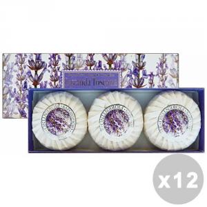 Set 12 FIORENTINO Saponetta Lavanda X 3 Pezzi Saponi e cosmetici