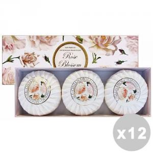 Set 12 FIORENTINO Saponetta ROSA X 3 Pezzi Saponi e cosmetici