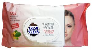 FRESH & CLEAN Salviette Struccanti Pelli Sensibili * 60 Pezzi Saponi e cosmetici