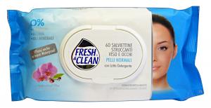 FRESH & CLEAN Salviette Struccanti Pelli NormalI * 60 Pezzi Saponi e cosmetici