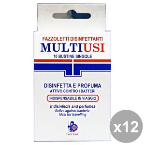 Set 12 GERMO Salviette Disinfettante Imbustinate X 10 Pezzi Igienici sanitari