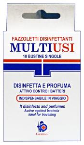 GERMO Salv.disinfettanti imbustate X 10 pz. - Salviette igieniche