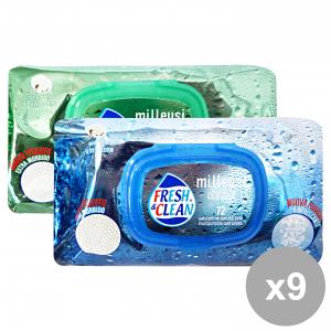 Set 9 FRESH&CLEAN Salviette Milleusi Apertura Rigida CLASSIC X 72 Pezzi Igienici sanitari