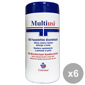 Set 6 GERMO Salviette Disinfettante X 100 Pezzi Igienici sanitari