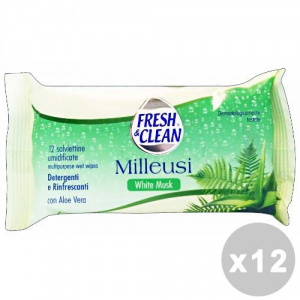 FRESH & CLEAN Set 12 FRESH & CLEAN Salviette milleusi white musk * 12 pz.