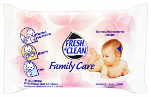 FRESH & CLEAN Salviette baby * 18 pz. family care - linea bimbo