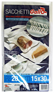 GALLO Sacchi sottovuoto 15x30 X 20 pz. - Avvolgenti e sacchetti alimenti