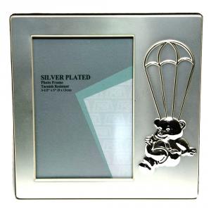 GICOS Portafoto Silver Orso Paracadute Cm.9X13 Articoli Regalo