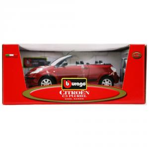 BBURAGO Modellini Auto Scala 1:18 Citroen C3 Pluriel Rossa Giocattolo Bambino