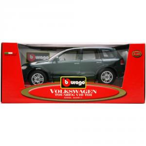 BBURAGO Modellini Auto Scala 1:18 Vw Touareg V10 Tdi Verde Giocattolo Bambino