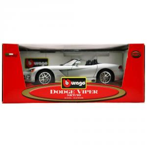 BBURAGO Modellini Auto Scala 1:18 Dodge Viper Srt/10 Grigia Giocattolo Bambino