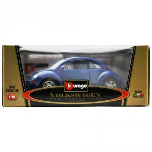 BBURAGO Modellini Auto Scala 1:18 Vw New-Beetle Blue (1998) Giocattolo Bambino