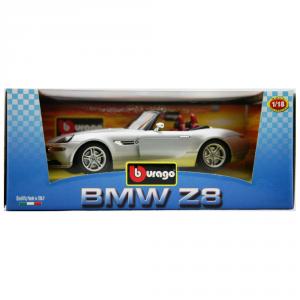 BBURAGO Modellini Auto Scala 1:18 Bmw Z8 2001 Grigia Giocattolo Bambino