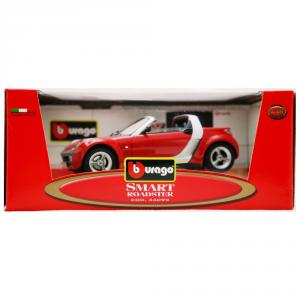 BBURAGO Modellini Auto Scala 1:18 Smart Roadster 34099 Rossa Giocattolo Bambino