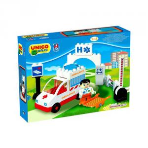 ANDRONI GIOCATTOLI Costruzioni Unico Plus Base Ambulanza (s)