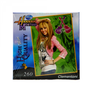 CLEMENTONI Puzzle 260 pezzi Mini Hannah Montana Verde Giocattolo