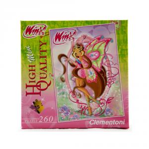 CLEMENTONI Puzzle 260 pezzi Mini Winx Flora Giocattolo