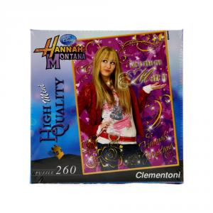 CLEMENTONI Puzzle 260 pezzi Mini Hannah Montana Fucsia Giocattolo